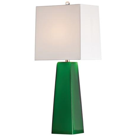 Arteriors Home Roma Emerald Cased Glass Table Lamp
