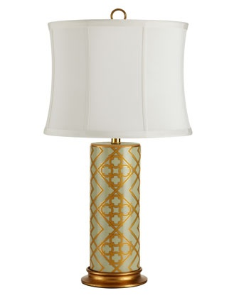 """Golden Mint"" lamp horchow.com"